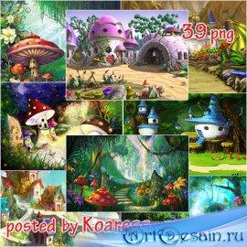 Подборка детских сказочных фонов jpg для дизайна