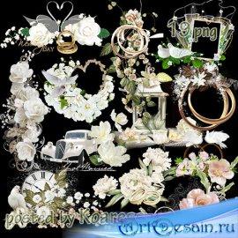 Png клипарт на прозрачном фоне - подборка свадебных кластеров