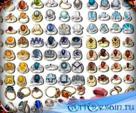 Png на прозрачном фоне - Кольца золотые и серебряные