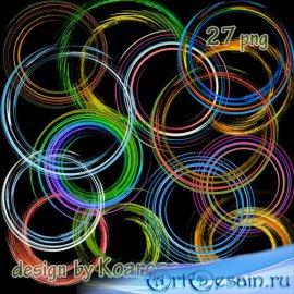 Клипарт png на прозрачном фоне для дизайна - спиральные рамки вырезы, завит ...