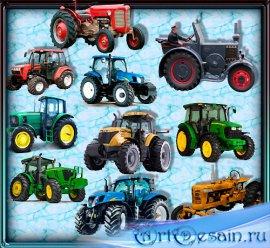 Png для фотошопа на прозрачном фоне -  Красивые тракторы