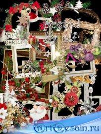 Клипарт в png - Зимние, новогодние рамки-вырезы