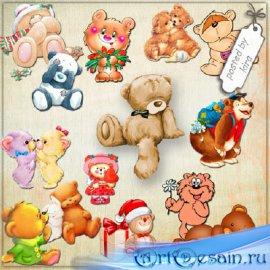 Клипарт - Забавные медвежата в png