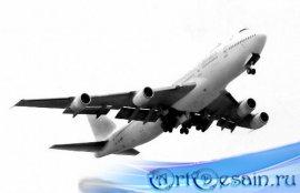 Клипарты на прозрачном фоне - Пассажирские и военные самолеты