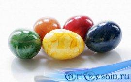 Качественные клипарты на прозрачном фоне - Необычно красивые яйца