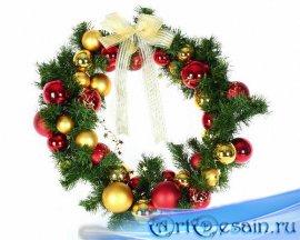 Png для фотошоп - Рождественские венки