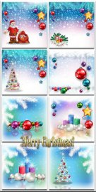 Новогодние фоны-Новогодние композиции.3 часть/Christmas backgrounds-Christm ...