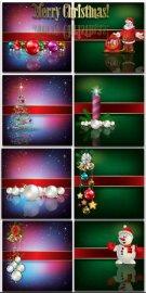 Новогодние фоны-Новогодние композиции.4 часть/Christmas backgrounds-Christm ...