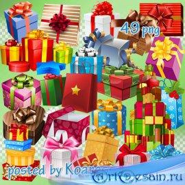 Праздничный клипарт png на прозрачном фоне для фотошопа - Подарки, подарочн ...