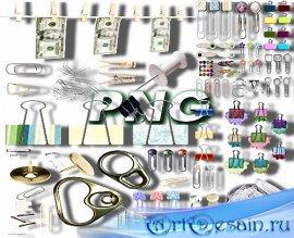 Клипарты png - Кнопки, прищепки, булавки