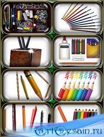 Png формат - Цветные и простые карандаши