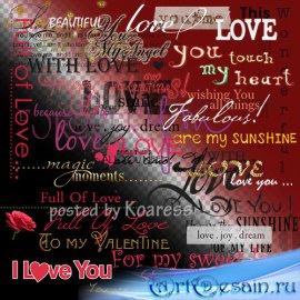 Png клипарт - WordArt к Дню Всех Влюбленных - Слова любви