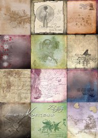Винтажные романтические jpg фоны с надписями для дизайна - Старые письма