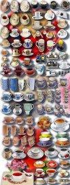 Клипарты для фотошопа - Фарфоровые и простые чашки