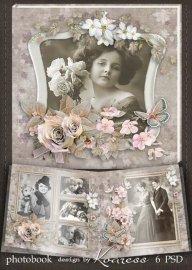 Винтажная фотокнига для фотошопа - Альбом для старых фотографий