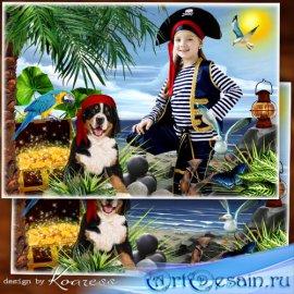 Детская фоторамка для портретов - Пиратская жизнь