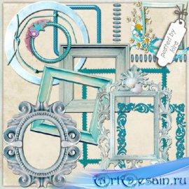 Клипарт - Голубые рамки