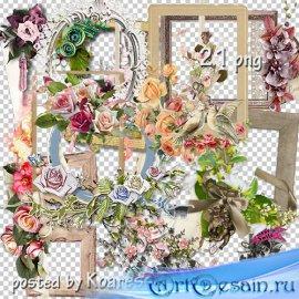 Подборка винтажных png рамок-вырезов для дизайна - Винтажная коллекция