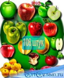 Фотошоп Png клипарты - Яблоки разных сортов