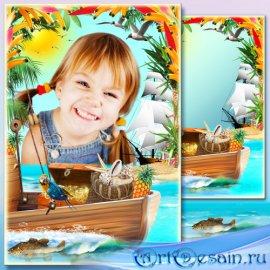Рамка для фото - Тропические сокровища