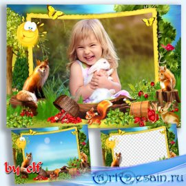 Детская фоторамка - На лесной поляне