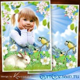 Детская рамка для фото - Летняя поляна