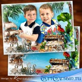 Детская рамка для фото - Мы отважные пираты