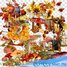 Рыжая осень - клипарт в png