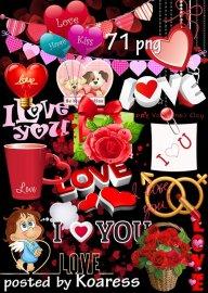 Подборка клипарта к Дню Влюбленных - Если в сердце живет любовь