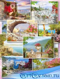 Набор фонов для фотошопа - Живописные пейзажи