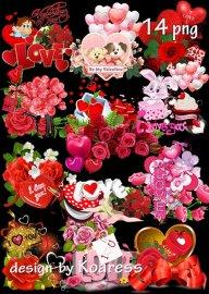 Кластеры png к Дню Святого Валентина - Set of romantic png clusters for Val ...