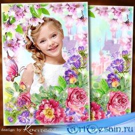 Рамка для детских весенних фото - Тебе желаю в день весенний озорного настр ...