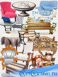 Клипарт без фона - Лавочки, столы, кресла