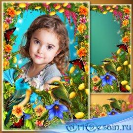 Рамка для Фотошопа - Весенняя песня