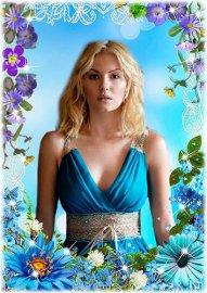 Женская рамка - Летние цветы