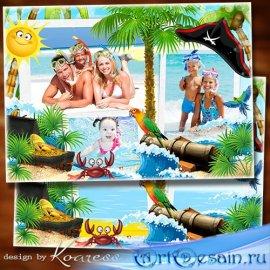 Рамка для летних морских фото - Остров пиратов