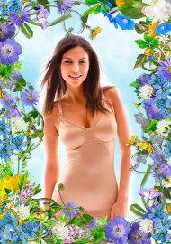 Рамка - Летняя цветочная композиция