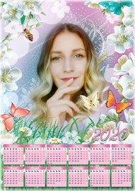 Календарь на 2019, 2020 год - Летняя  цветочная полянка