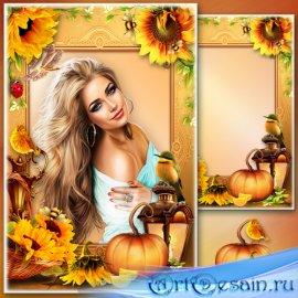 Рамка для Фотошопа - Оранжевое лето