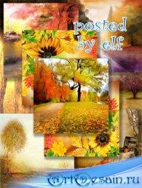 Фоны для дизайна - Миновало лето, осень наступила