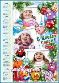 Календарь-рамка на 2020 год с символом года - Мы встречаем Новый Год