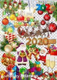 Праздничный клипарт в png - Новогодние украшения-2