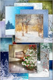 Подборка зимних jpg фонов для дизайна - Winter and Christmas backgrounds for design