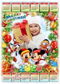 Праздничный детский календарь на 2020 год с героями Диснея - Веселых зимних ...