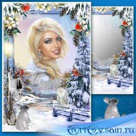 Рамка для Фотошопа - Зимний этюд 2