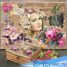 Винтажная рамка для декупажа - Мои любимые цветы