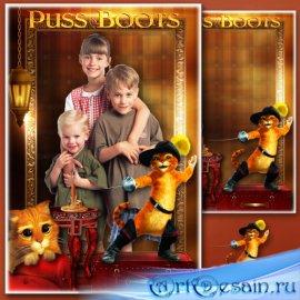 Детская рамка для фотошопа - Любимые сказочные герои мультфильмов