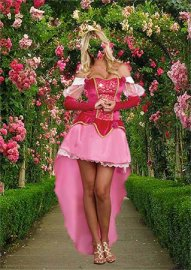 Женский шаблон - Принцесса в летнем саду