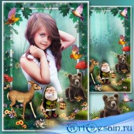 Сказочная рамка для фотошопа - Дорога в волшебный лес