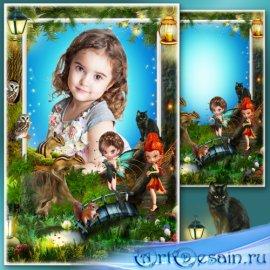 Сказочная рамка для фотошопа - Страна прекрасных фей